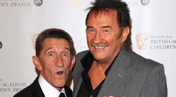 The game was a great chance for fans to remember one half of comedy duo the Chuckle Brothers (Ian West/PA)