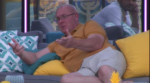 Nick Leeson speaks to housemates (Channel 5/PA)