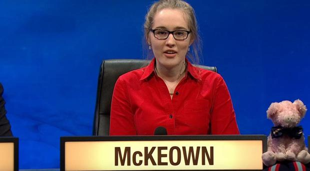 University Challenge winner Rosie McKeown (BBC)