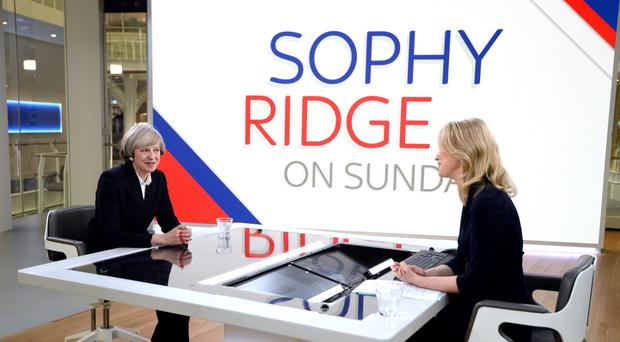 Sky News' Sophy Ridge on Sunday programme will air at the new time of 9am (John Stillwell/PA)