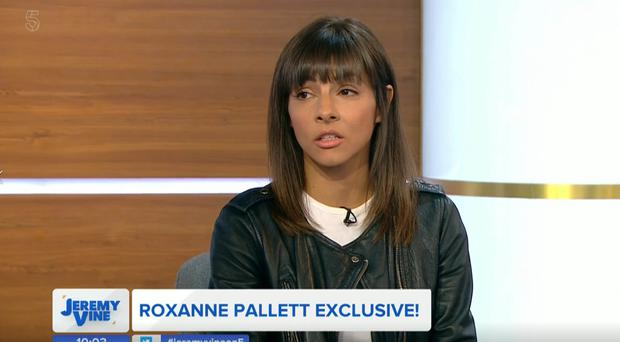 Roxanne Pallett appears on Jeremy Vine's new show (Channel 5/PA)