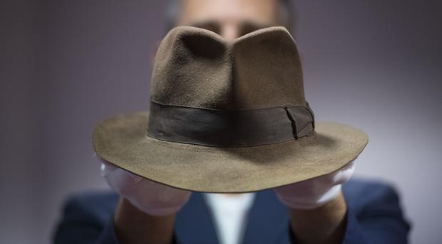 Indiana Jones' Fedora hat, as worn by Harrison Ford in Raiders Of The Lost Ark (Victoria Jones/PA)