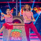 Katya Jones and Seann Walsh (Guy Levy/BBC)