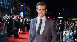 Chris Pine on the red carpet (David Parry/PA)