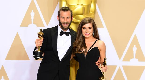 Hollyoaks star Rachel Shenton secretly married fiance Chris Overton after they won an Oscar (Ian West/PA)