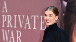Rosamund Pike attending the A Private War Premiere (Ian West/PA)