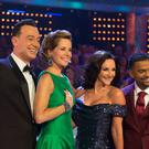 Craig Revel Horwood, Dame Darcey Bussell, Shirley Ballas and guest judge Alfonso Ribeiro (BBC/PA)
