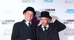 John C. Reilly and Steve Coogan attending the Stan and Ollie Premiere as part of the BFI London Film Festival at the Cineworld Cinema in London (Ian West/PA)