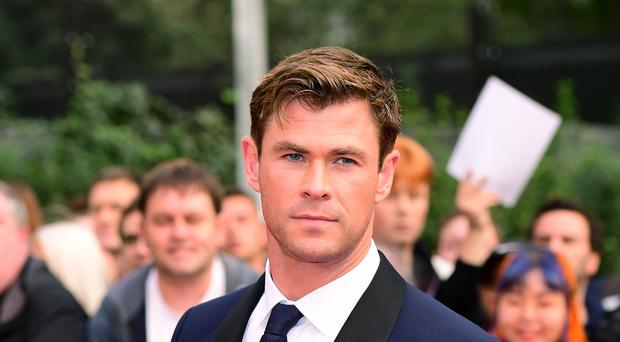 Chris Hemsworth gave a hitchhiker a lift in his helicopter (Ian West/PA)
