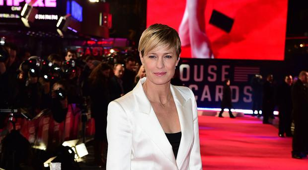Robin Wright's House Of Cards co-stars have praised her performance in the show (Ian West/PA)