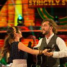 Seann Walsh and his dance partner Katya Jones. (Guy Levy/BBC)