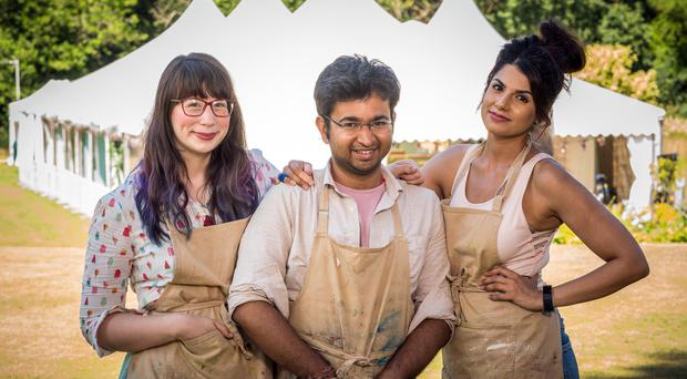 The finalists in The Great British Bake Off (Mark Bourdillon/Love Productions)