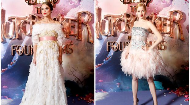 Keira Knightley and Ellie Bamber nail fairytail chic at Nutcracker premiere (David Parry/PA)