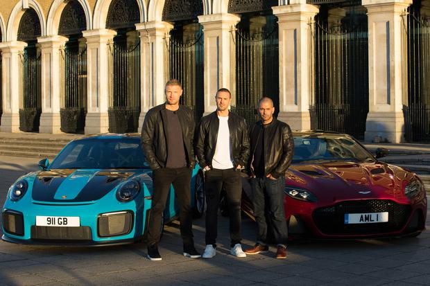 Freddie Flintoff, Paddy McGuinness and Chris Harris (BBC/PA)