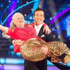 Ann Widdecombe and her Strictly Come Dancing partner Anton Du Beke in 2010 (Guy Levy/BBC)