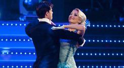 Ali Bastian and her dance partner Brian Fortuna perform at Blackpool during the 2009 series of Strictly Come Dancing (Guy Levy/BBC/PA)