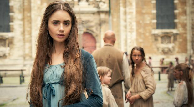 Fantine, played by Lily Collins, in the new BBC adaptation of Les Miserables (Robert Viglasky/BBC)