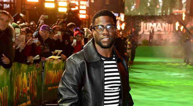 Oscars host Kevin Hart said he 'loves everybody' amid controversy over alleged homophobic tweets from 2009 (Ian West/PA)