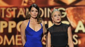 Tina Fey and Amy Poehler (Vince Bucci/Invision for Academy of Television Arts and Sciences/AP)