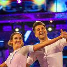 Ashley Roberts and Pasha Kovalev performing on Strictly last week (Guy Levy//BBC/PA)