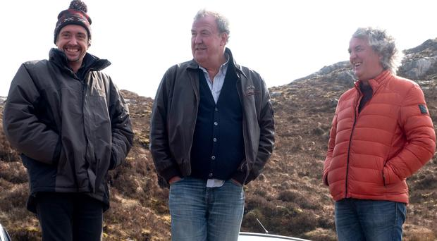 Jeremy Clarkson, Richard Hammond and James May will focus on special episodes filmed on the road (Ellis O'Brien/PA)