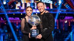 Strictly Come Dancing 2018 winners Kevin Clifton and Stacey Dooley (Guy Levy/BBC/PA)