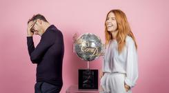 Kevin Clifton and Stacey Dooley (Guy Levy/BBC/PA)