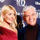 Holly Willoughby and Phillip Schofield attending the press launch for the upcoming series of Dancing On Ice at the Natural History Museum in Kensington, London. Picture date: Tuesday December 18, 2018. (David Parry/PA Wire)