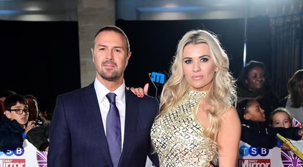 Paddy McGuinness and his wife Christine have erected their first Christmas tree in five years but keep it outside for the sake of their autistic children (Ian West/PA)