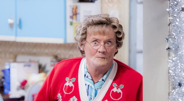 Brendan O'Carroll as Mrs Brown in the Mrs Brown's Boys Christmas Special in 2016 (Image: PA)