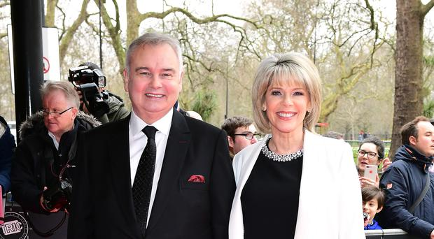 Presenters Eamonn Holmes and Ruth Langsford, as ITV launches a Sunday edition of This Morning (Ian West/PA)