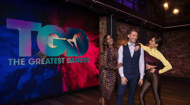 Oti Mabuse, Matthew Morrison and Cheryl are dance captains on BBC One's The Greatest Dancer (Syco/Thames/Tom Dymond)