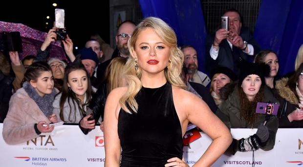 Emily Atack attending the National Television Awards 2019 held at the O2 Arena, London. (Matt Crossick/PA)