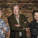 James May, Jeremy Clarkson and Richard Hammond during filming of The Grand Tour (Amazon Prime Video/PA)