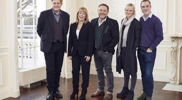 Cold Feet cast members (from left) Robert Bathurst, Fay Ripley, John Thomson, Hermione Norris and James Nesbitt (ITV)