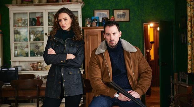 Catherine Tyldesley and David Caves in Channel 5's 15 Days (Boom Productions/PA)