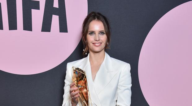 On The Basis Of Sex star Felicity Jones has said she wants 'transparency' when it comes to equal pay in Hollywood (Matt Crossick/PA)