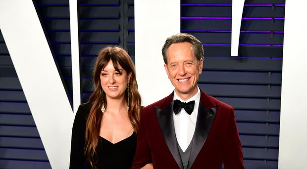 Richard E Grant and daughter Olivia attending the Vanity Fair Oscar Party (Ian West/PA)