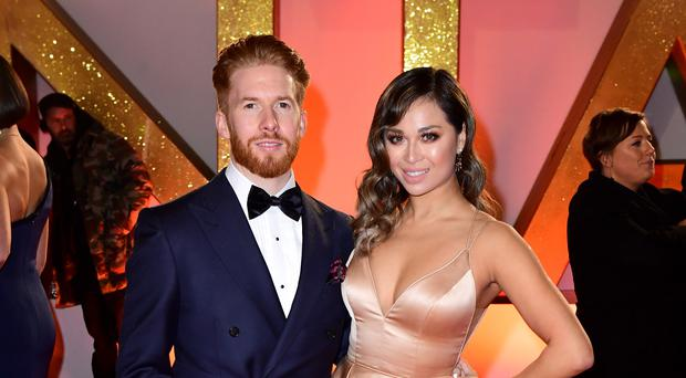 Neil Jones and Katya Jones (Ian West/PA)