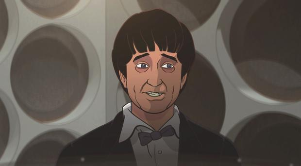 A still from the forthcoming Doctor Who animation series The Macra Terror (BBC Studios)