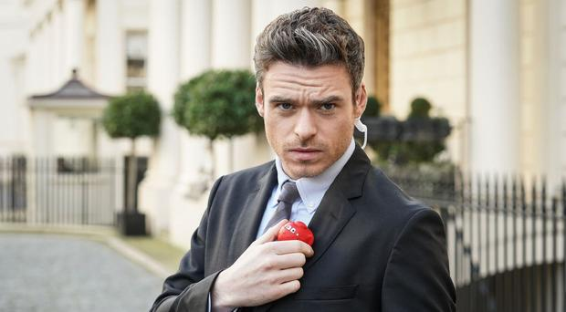 Richard Madden as he reprises his Bodyguard role for Comic Relief (Comic Relief/PA)