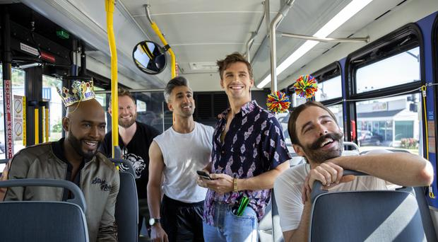 Four of Queer Eye's Fab Five met a rising star of US politics as they discussed LGBT rights in Washington DC (Christopher Smith/Netflix/PA)