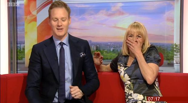 Louise Minchin and Dan Walker on BBC Breakfast (BBC/PA)