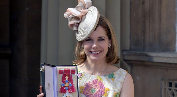 Darcey Bussell after being made a Dame of the British Empire at Buckingham Palace (Steve Parsons/PA)