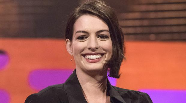 Anne Hathaway only had one week to prepare a British accent for her new film (Matt Crossick/PA)
