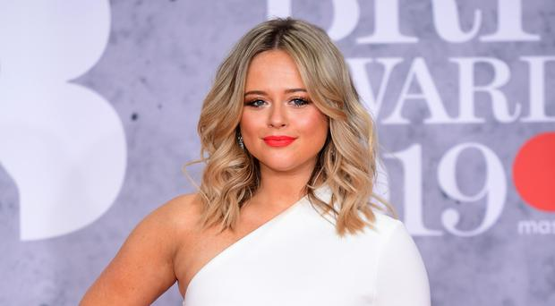 Emily Atack confirmed her relationship with film producer Rob Jowers in a post on Instagram (Ian West/PA)