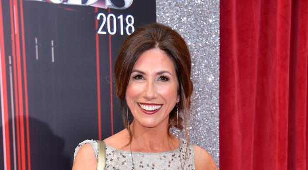 Gaynor Faye had to react in front of a green screen for her crash scene (Matt Crossick/PA)