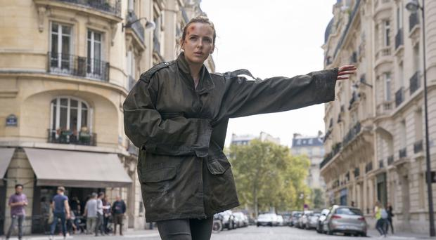 Jodie Comer, in season two of Killing Eve (Aimee Spinks/BBC America)