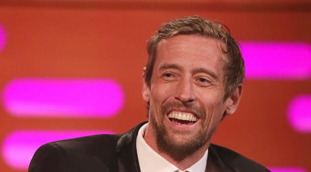 Peter Crouch filming The Graham Norton Show (Isabel Infantes/PA)