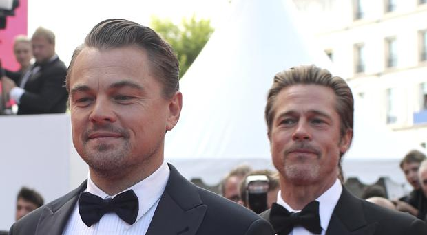Leonardo DiCaprio and Brad Pitt led a star-studded cast at the Cannes premiere of Once Upon A Time In Hollywood (AP Photo/Petros Giannakouris)